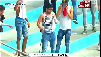 tunisian supporter shows his dick to.