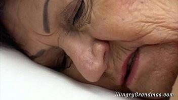 granny seduced a handsome dude