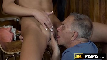 naughty vixen seduces and rides old mans dick.