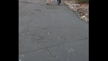 college girl in leggings