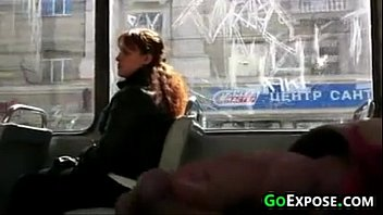 flashing cock on the bus
