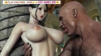 big tits korean girl with big black cock.