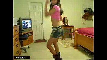 sexy skinny chick dancing in jean skirt - spankbang.org