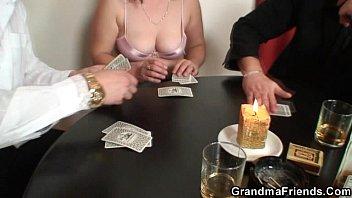 granny loses in strip poker