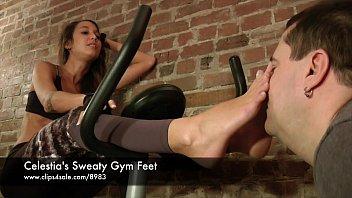 celestia'_s sweaty gym feet - www.clips4sale.com/8983/15757048