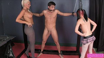 this slave is losing his balls.