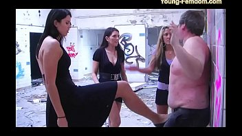 3 young femdom girls in action - domination.