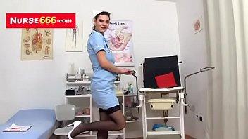 amanda vamp a hot nurse showing off her.