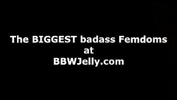 bbw femdom uses skinny guy for.