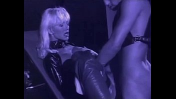 very beautiful blonde helen duval in leather latex.