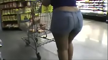 black ass in shorts shoping pawg.