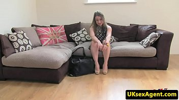 uk babe anally creampied at casting.