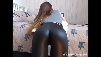 leather girl belindatight8 showing shiny ass.