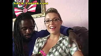 black dude plays with katie