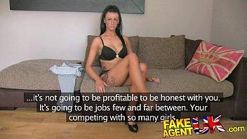 fakeagentuk sexy fake casting amateur takes huge cumshot.