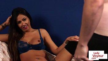 british lingerie voyeur watchers her sub.
