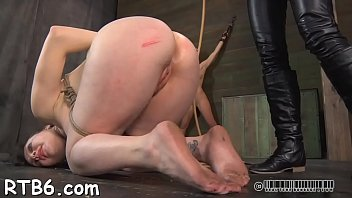 tormented slave is giving master a.