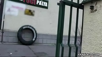 public blowjob with sexy amateur czech teen for.