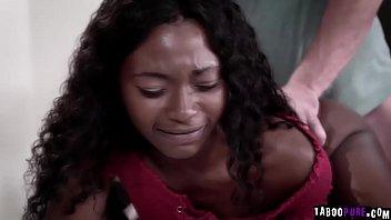 black teen close to tears as she tries.