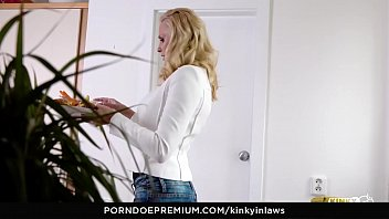 kinky inlaws –_ busty milf seduces stepson and.