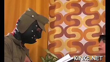kinky mistress foot bonks slave&#039_s ass hard and.