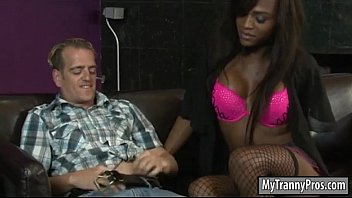 black tranny slides her dick in guys rectum.