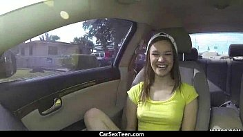 shy teen flashes driver 16