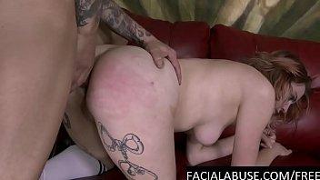 face fucked slut has a painful.