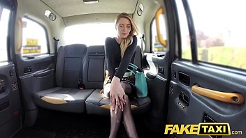 fake taxi sexy holland lady with short skirt.