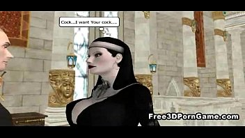 foxy 3d cartoon nun sucks cock and gets.