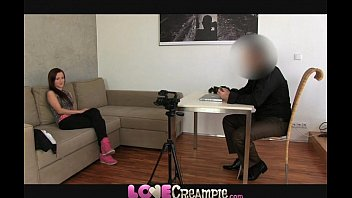 love creampie cute young amateur does casting to.