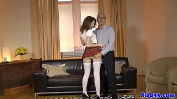 classy uk schoolgirl doggystyled by old.