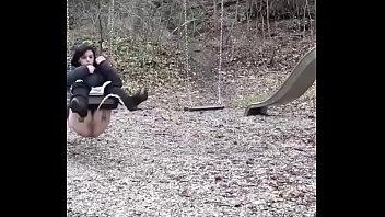 teen pees on her swing