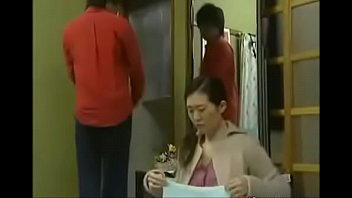 asian japanese boy extorted milf licks his penis.