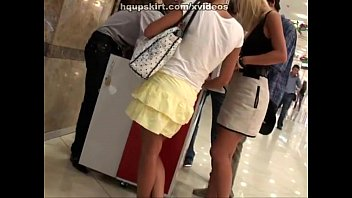 upskirt voyeur in the shopping centre
