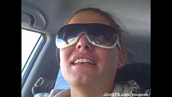 she swallows in car part