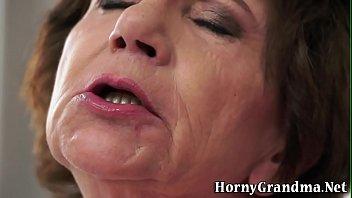 masturbating old woman