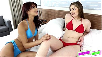 sweet and sexy lesbian teens tasting each others pussy