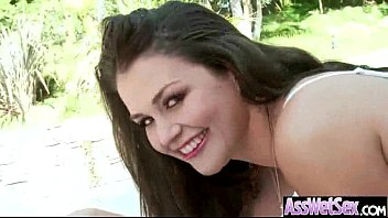 big butt girl (allie haze) get olied and.