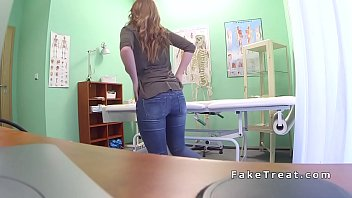 brunette sits on and rides doctors.