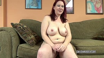 mature redhead lia shade is blowing a dude.