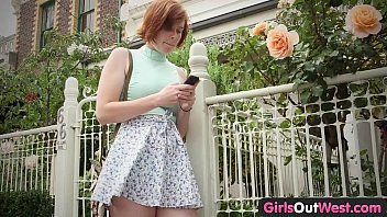 girls out west - busty ginger lesbians lick.