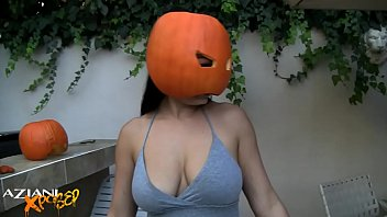aria giovanni naked with pumpkin on head -.