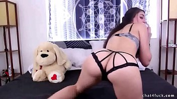 watch sexy brunette plays with her big pussy.