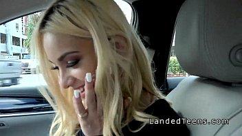 blonde teen robber bangs stranger in.