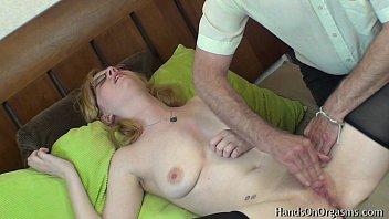 horny blonde jessica-lo gets help masturbating.