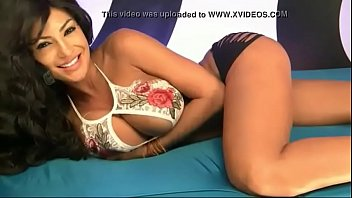 horny latina teasing on webcam