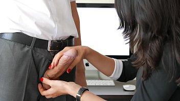 amateur handjob by secretary for office boss huge.