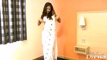 gujarati indian college girl divya in white pearl.