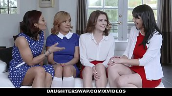 daughterswap - two hot daugthers get fucked by.